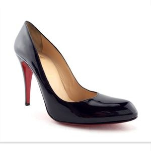 CHRISTIAN LOUBOUTIN Black Patent Classic Pumps 41